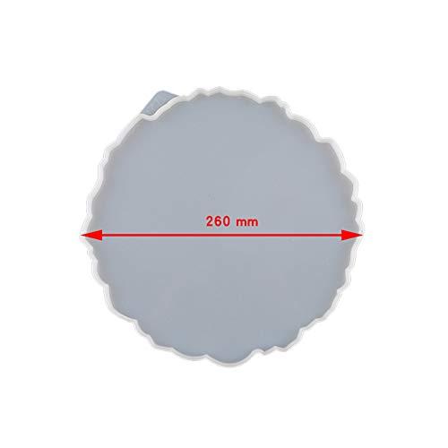 Gelentea Silikonform Gießform Resin DIY Große Silikonschale Flüssigkeiten Künstlerform Unregelmäßige Untersetzer Epoxidharz Kunstzubehör Machen Sie Ihre eigene Schalenharzform