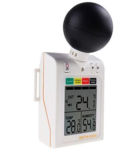 WBGT + HI Calor Índice Inspector Mojado Bulbo Globo Temperatura Calor Estrés Metro Aire Temperatura Humedad Ensayador Usable