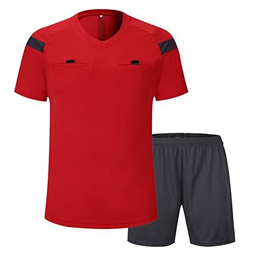 Shinestone - Camiseta de manga corta para hombre (rojo, mediano)