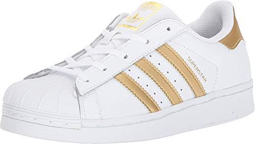 adidas Originals Superstar, Scarpe da Ginnastica Unisex-Bambini^Unisex-Bambini, Oro Bianco e Blu Metallizzato, 18 EU