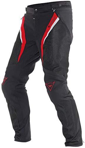 Dainese Herren Drake Super Air Tex Pants Motorrad Hose, Schwarz/Rot/Wei�, 64 EU