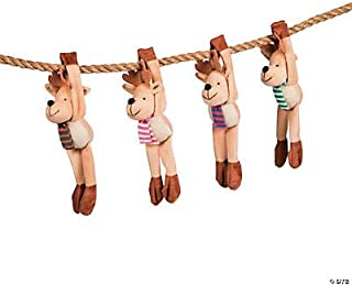 Long Arm Reindeer Plush Stuffed Animals - Set of 12 - Christmas Toys and Stocking Stuffers