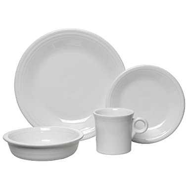 Fiesta 4-Piece Place Setting, White