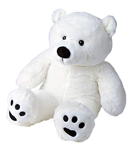 BEARegards Comfort Bears Personalized Long Message Recordable 15 Inch Talking Polar Teddy Bear w/ 60 Seconds of Recording Time.