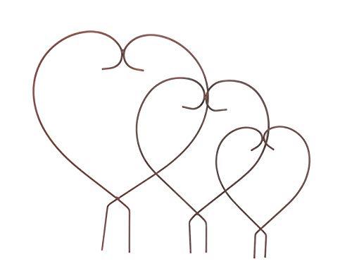 Gartenzaubereien Herz 3 er Set Rankhilfe