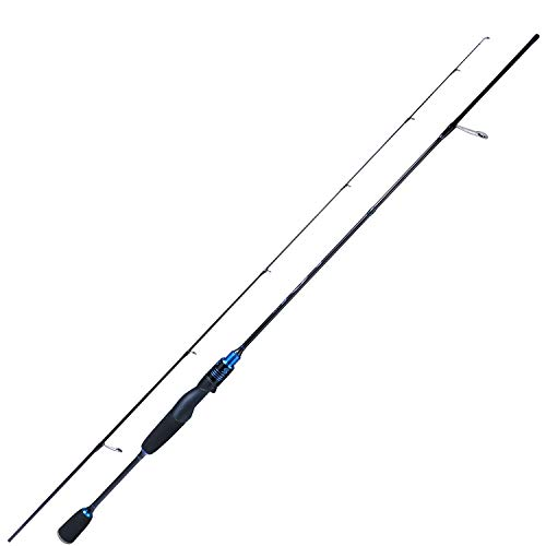 Sougayilang Fishing Rods Ultra-Sensitive Carbon Spinning Rods Blanks with Comfort EVA Grip Rod Handle Trout Rod(Blue 6ft/1.8m