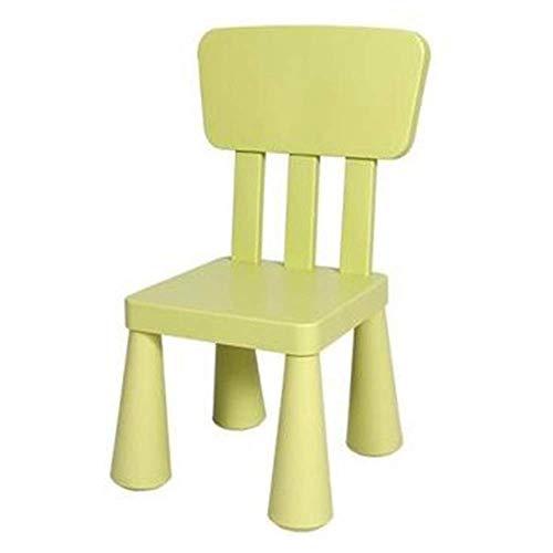 Kinderstuhl mit hoher Rückenlehne, Kunststoff, Spielzeugstuhl, dicke elastische Rückenlehne, Farbe Kinderstuhl, geeignet für drinnen und draußen