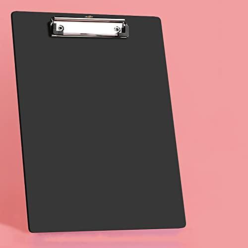 Meyyy, cartellini per appunti in plastica, confezione da 20 pezzi, con clip a basso profilo, colorati per appunti per ufficio, resistenti, resistenti, formato A4, supporto formato 22,5 x 31,5 cm