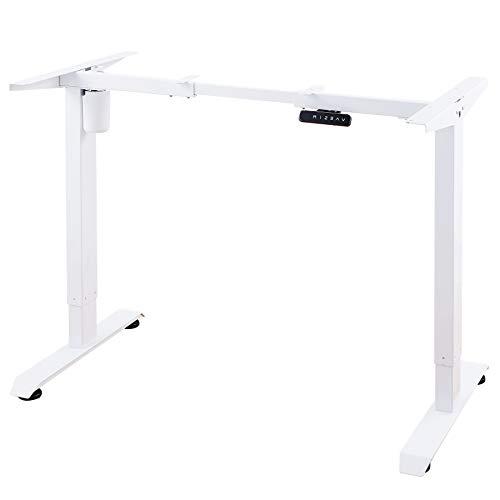 CO-Z Höhenverstellbarer Schreibtisch Elektrisch höhenverstellbares Tischgestell mit Motor Speicherfunktion Schreibtischgestell Schreibtischständer (Weiß-Tischgestell)