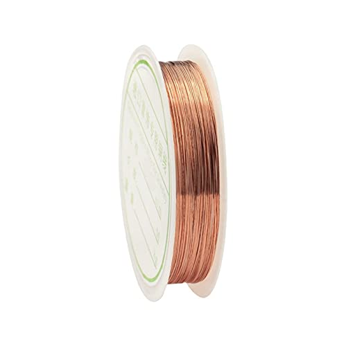 YRYPVD Artesanía de Bricolaje Alambre de Cobre para Collar de Pulsera DIY Colorfast Beading Wire Beyry Cord Cadena para la fabricación de artesanía para Arte de uñas de Bricolaje, Abalorios de joyer