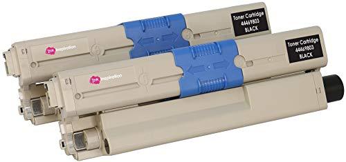 2 Schwarz Premium Toner kompatibel für Oki C310dn C330dn C331dn C510dn C511dn C530dn C531dn MC351 MC352dn MC361 MC361dn MC362dn MC561 MC561dn MC562dn MC562dnw MC562w   44469803 3.500 Seiten