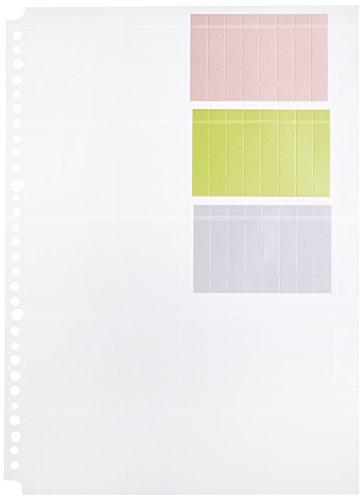 コレクト 名刺カードポケット A4-L 30穴 透明 0.2×22.5×3.9cm CF-710