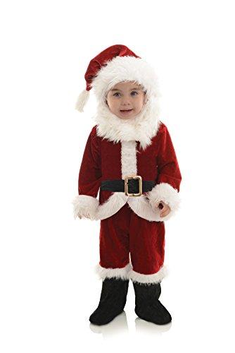 Underwraps Boys' Baby's Santa Onesie Costume, Red/White/Black, Large (2T-4T)