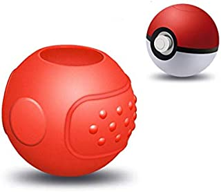 Portable Carrying Ball Case For Nintend Switch NS Poke Ball Plus Controller Let GO Black Red Accessory Silicone Non-slip Case