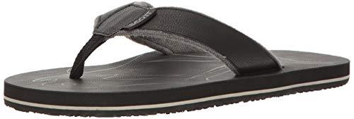 Scott Hawaii Men's Papio Vegan Leather Sandals | Soft Terrycloth Lined Flip Flops | Grey Style | Size 12
