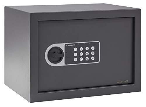 ARREGUI Premier 16501-S2 - Caja Fuerte de Mesa, 3 mm, Oblea electrónica, 25 x 35 x 25 cm, 16 L, Color Negro
