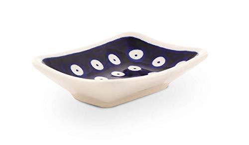 Bunzlauer Keramik Sushi- Sojasoßen Teller, Dekor 42