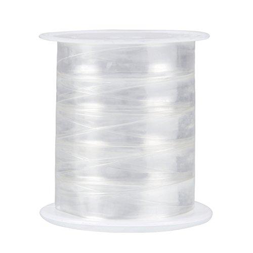 Sumind 10 Metros Elástico Transparente Elástico de Peso Ligero para Proyectos de Costura de Tela