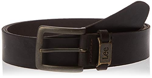 Lee Logo Belt Cintura, Marrone (Dark Brown 24), 85 Uomo