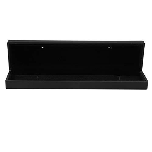 Joyero, caja de regalo, colgante, 4 tipos de anillos iluminados con LED (negro, caja para el cuello)