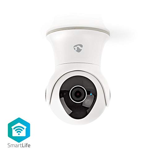 Nedis - Wi-Fi smart IP-camera - pan/tilt-functie - Full HD 1080p - outdoor - Waterdicht - Groot-Brittannië