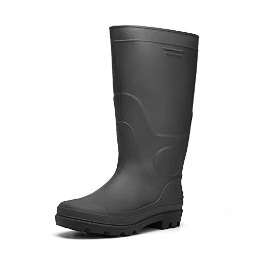 Camfosy Gummistiefel Herren Wasserdicht, Arbeitsstiefel Männer Schlupf Jagd Angel Stiefel Langschaft Regenstiefel rutschfeste & Ölbeständige PVC Protective Footwear Outdoor Gr. 41-47