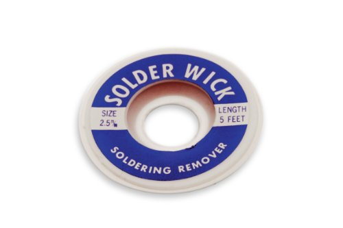 Desoldering Wick, 2.5mm Width, 5' Length