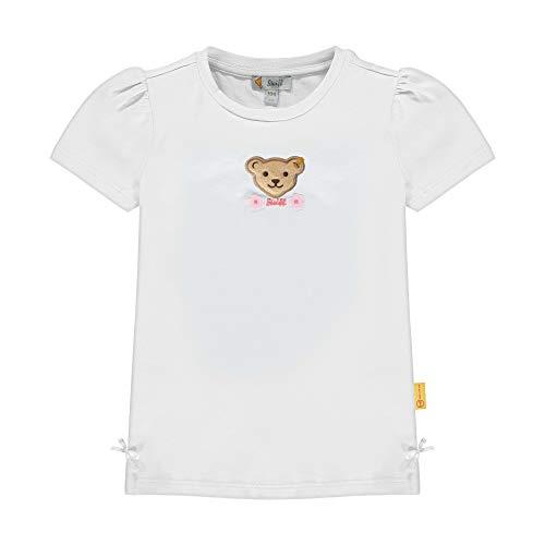 Steiff Mädchen T-Shirt, Weiß (Bright White 1000), (Herstellergröße: 110)