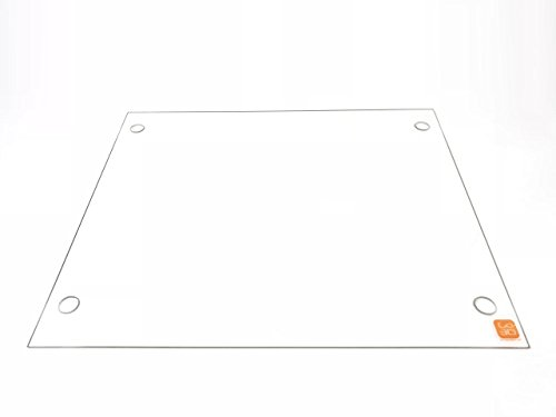 310mm x 370mm Borosilicate Glass Plate/Bed Flat Polished Edge w/Screw Holes for Tevo Tornado 3D Printers