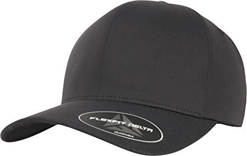 Flexfit Delta Adjustable Cap, Black, one Size