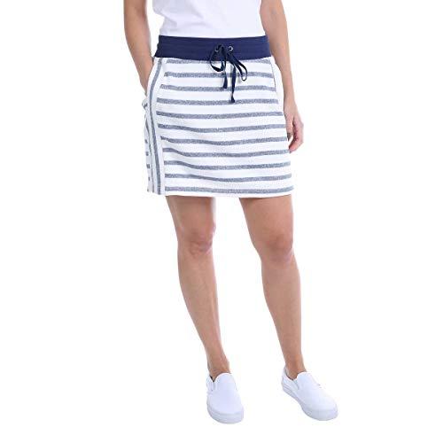 Jones New York Ladies' Skort - White-(Indigo Combo) Large