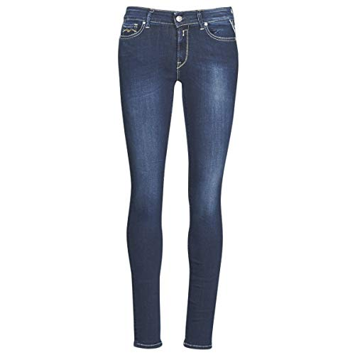 Replay Damen New LUZ Skinny Jeans, Blau (Dark Blue 007), No Aplica/L30 (Herstellergröße: 24)