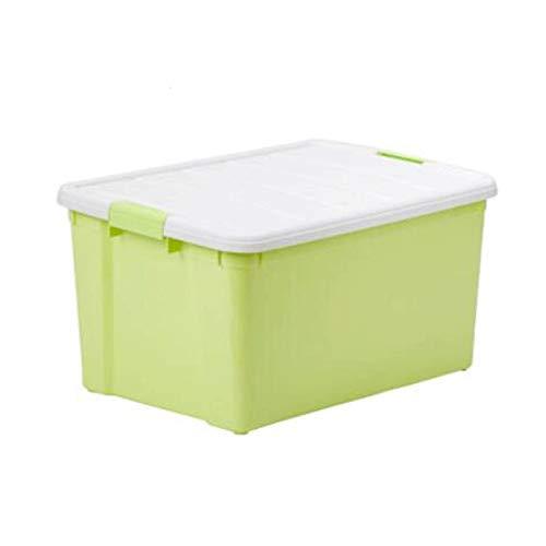 Heigmzzwl - Contenitori per vestiti, 1 pezzo, in plastica, con coperchio allegato, per manici in tessuto spesso per piumini, coperte, biancheria da letto, (blu, verde, rosa)