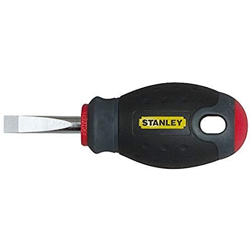 Stanley FatMax Schraubendreher Schlitz SL4 (30 mm Schwertlänge kurze Form, Chrom-Vanadium ergonomischer Handgriff) 1-65-484