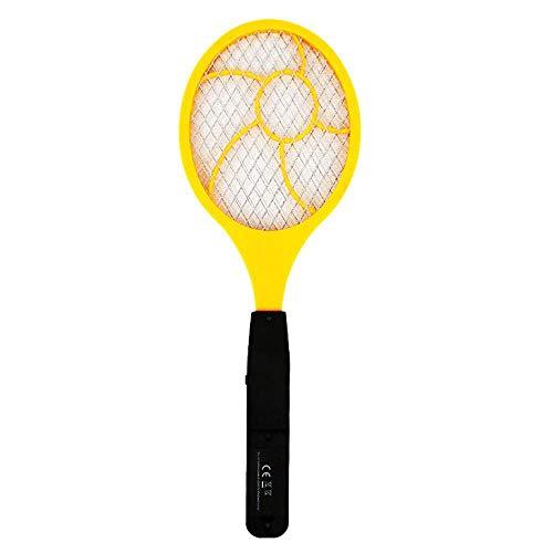 Cikuso Palmeta Matamoscas para Mosquito Electrico Led Matamoscas Raqueta De Tenis Electrica 44 x 15.5 Matador De Mosquito Avispa