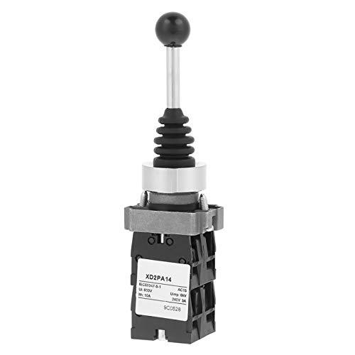Interruptor de palanca de mando bloqueado-1pc XD2PA14 4NO Interruptor de palanca de mando de palanca de mando bloqueado de 4 posiciones