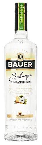 2x Bauer - Family Tradition Spirit Williamsbirnen-Schnaps, 700ml
