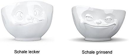 Preisvergleich für Fiftyeight 2er Schalen-Set GRINSEND & LECKER / weiß