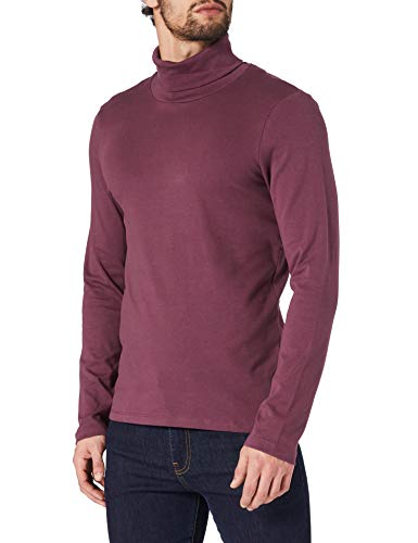 Tom Tailor Rollkragen Langarm Camiseta, 11333 Dusty Wildberry Red-Juego de Mesa [Importado de Alemania], L para Hombre