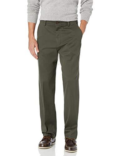 Dockers Men's Classic Fit Easy Khaki Pants D3, Olive Grove (Stretch), 36 32