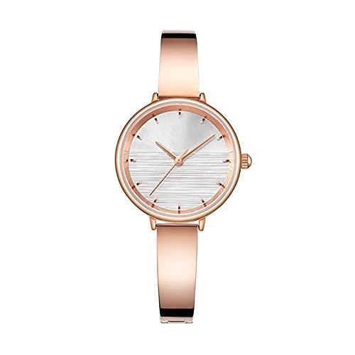 WYH Reloj de Pulsera Mira Señoras Simple Analog Female Reloj De Pulsera 30mm Movimiento De Cuarzo Reloj De Mujer Reloj De Moda Pulsera Reloj De Pulsera Ultra Fino (Color : Beige)
