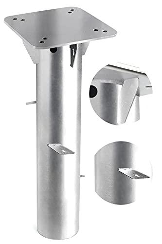 Homeatk Bodenplatte Sonnenschirmständer mit Bodenhülse, Robust Stahl Universal Bodenanker Schirmständer für Sonnenschirm - Ampelschirm - Kurbelschirm zum Einbetonieren