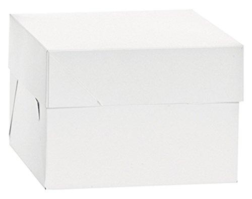 Decora 0339481 BOÎTE pour GÂTEAUX 30,5 X 30,5 X 25 CM, Paper, Weiß