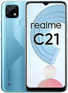 جوال ريلمي C21 ، هاتف ذكي غير مقفل مع بطارية ضخمة 5000 mAh، شاشة كاملة 6.5انش، كاميرا ثلاثية بتقنية الذكاء الاصطناعي 13 مي...