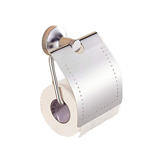 Accessoires de salle de bain Essentials Porte-papier hygiénique avec couvercle Porte-rouleau de papier hygiénique fixé au mur Porte-documents de rangement for la maison Chrome poli Accessoires de toil