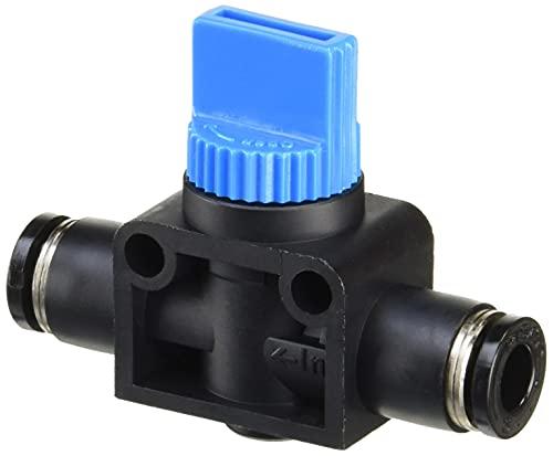 日本ピスコ(PISCO) ハンドバルブ ユニオンストレート 3方弁タイプ 適用チューブサイズ(IN):6mm 適用チューブサイズ(OUT):6mm HV6-6