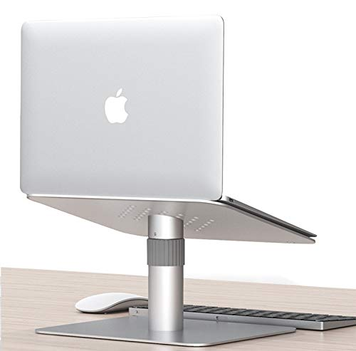 TONINI Adjustable Laptop Stand,Laptop Riser Adjustable Height 360 Rotating Aluminum Ergonomic Computer Notebook Stand Holder Compatible for MacBook Pro Air,Lenovo,Dell XPS,HP and More 10'-17' Laptops