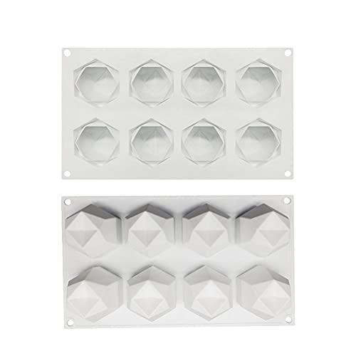 Cubiteras Silicona 1 Unids Silicona 8 Cavidad Cubo Forma Molde De Pastel Para Hornear Postre Helados De Decoración Herramientas-4 Piezas