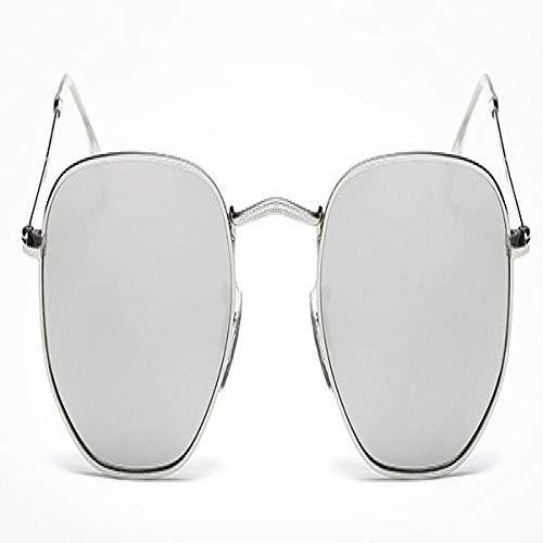 Moda Gafas De Sol Gafas De Sol Clásicas Mujeres Hombres Diseñador De La Marca Gafas De Sol para Mujeres Gafas De Sol De Espejo De Aleación Ray Mujer Plata