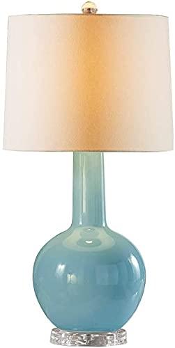 ZMY Lámpara de Mesa de cerámica Sencillez Europeo Sueño Luz Moderna Tela Creativa Lámpara de Escritorio Lámparas Dormitorio Lámpara de Noche Lámpara de Estar Lámpara Luz de sueño E27 Edison